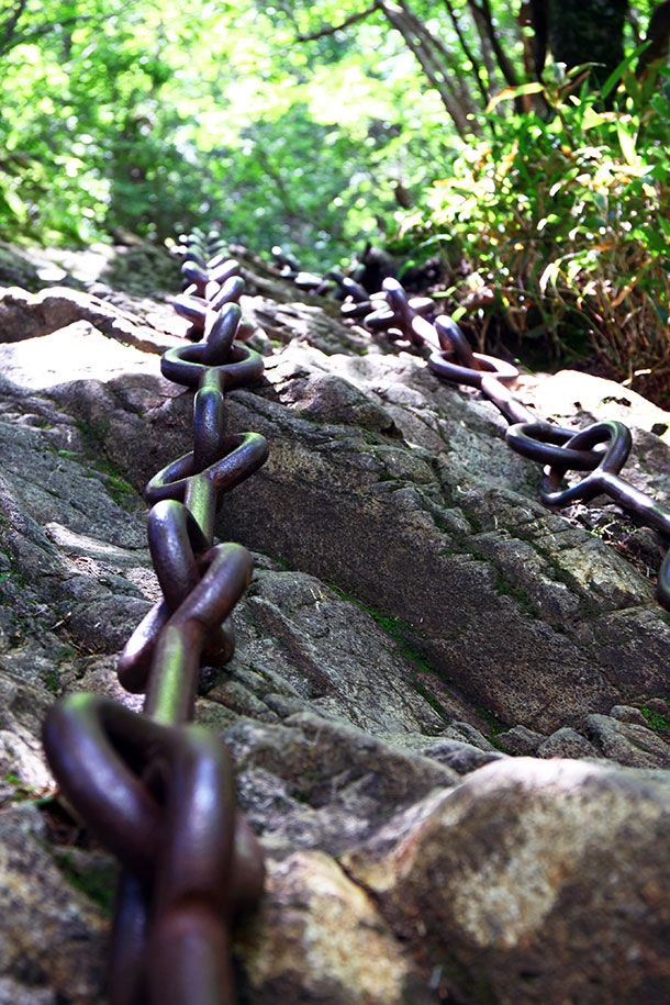 石鎚山の試しの鎖