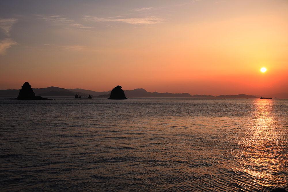 鹿島から臨む夕日