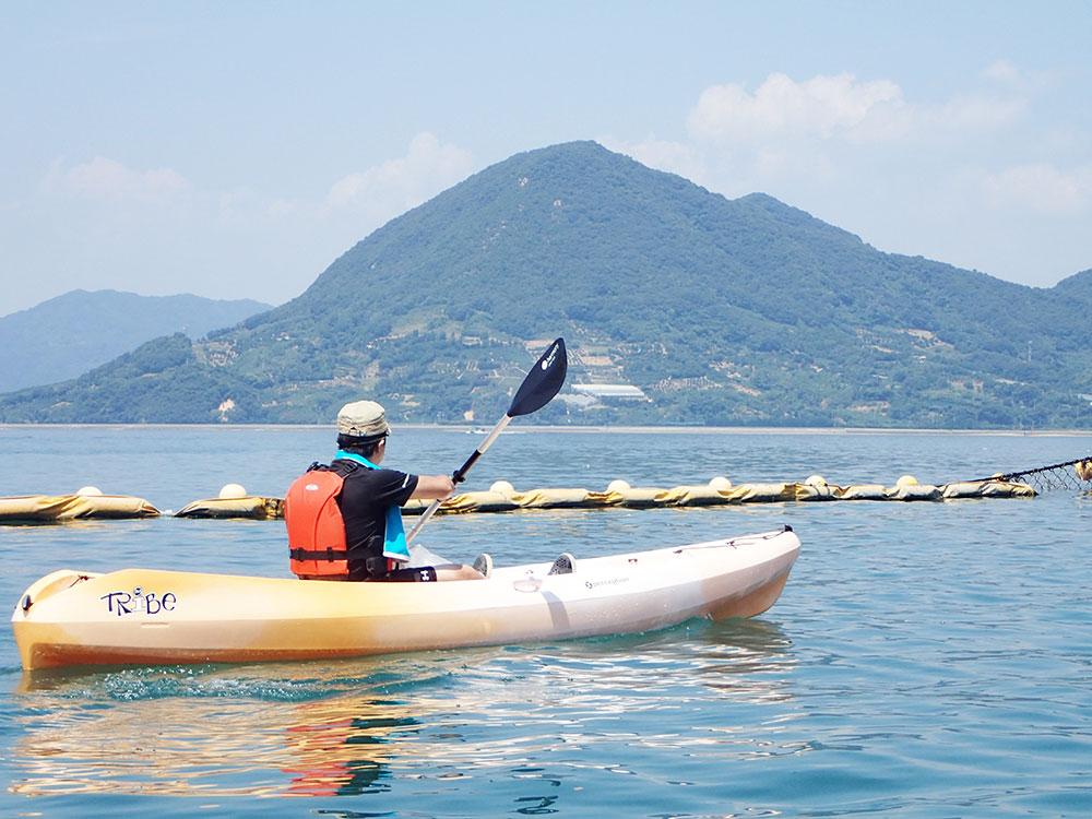 瀬戸田サンセットビーチのシーカヤック体験