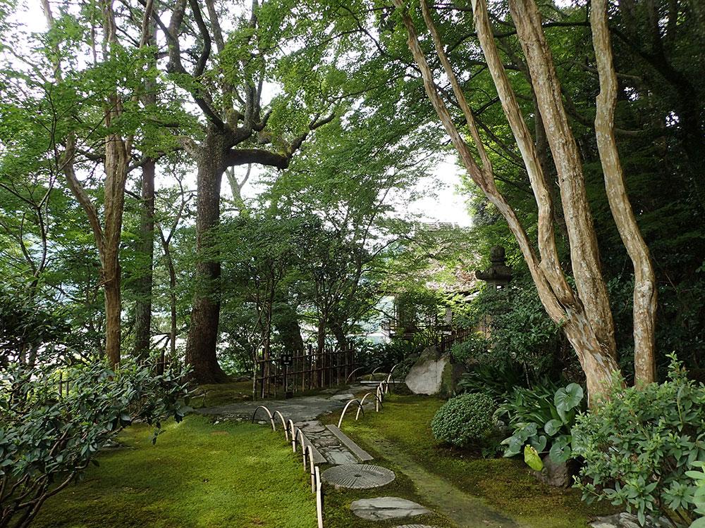 一歩一歩、歴史や雰囲気を感じ取りながら歩く庭園