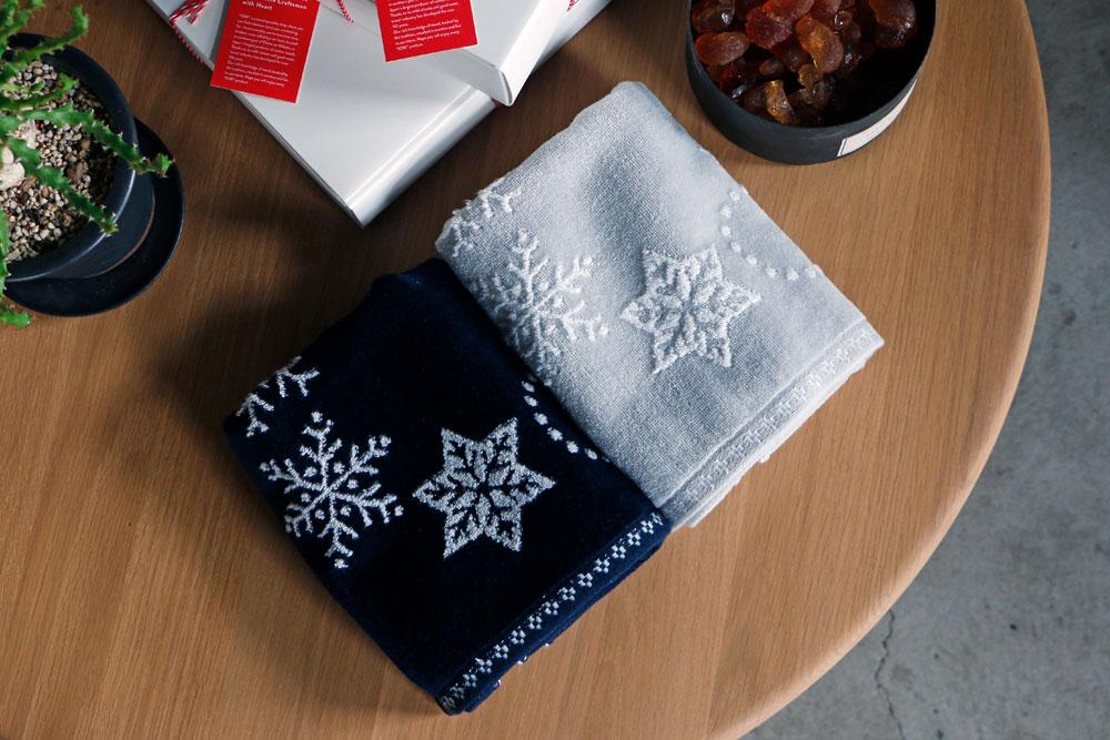 『snow wreath(スノーリース)』フェイスタオル イメージ