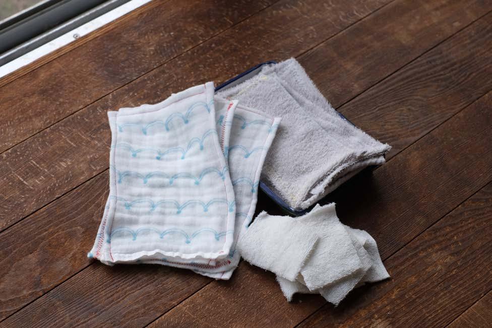 06 タオルウエス 小さな使い捨て雑巾