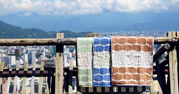 松山城と今治タオル