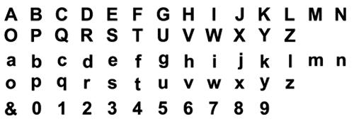 タオル 名入れ刺繍 伊織 アルファベット 書体 ゴシック