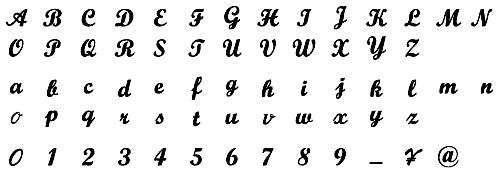 タオル 名入れ刺繍 伊織 アルファベット 書体 スクリプト