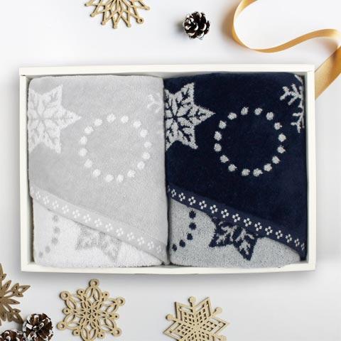 snow wreath(スノーリース) フェイスタオル ギフト クリスマス