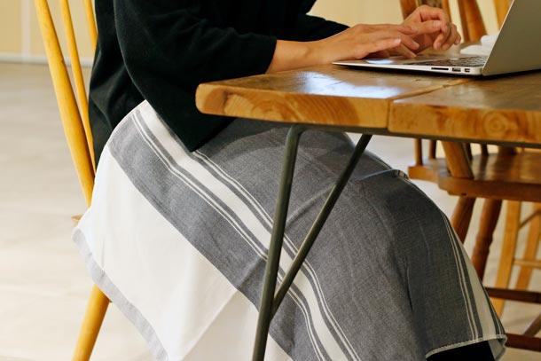 『MAKU-WRAP』(4重ガーゼの枕カバー) イメージ 膝掛け
