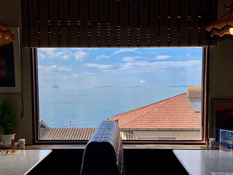喫茶ポパイの窓からの景色