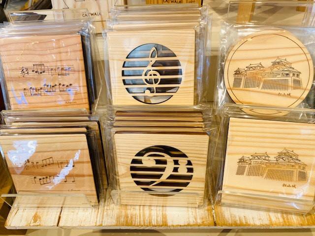 和蔵一畳庵 木のコースター