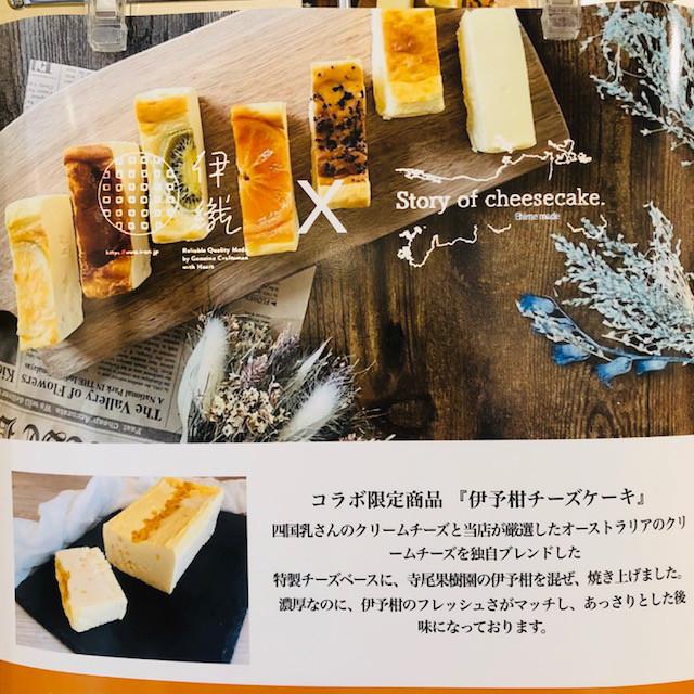 Story of cheesecake×伊織コラボ限定 伊予柑チーズケーキ